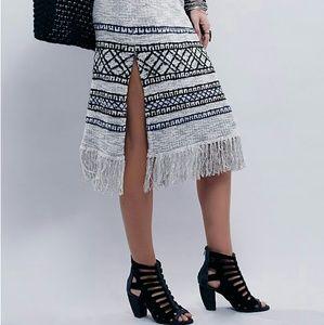 Free People Fringe Sweater Skirt